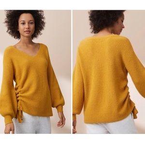 LOFT Lou & Grey Knitted Marigold V-Neck Sweater XL